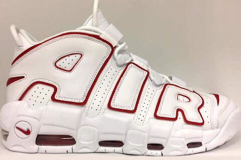 【モアテン新作】NIKE AIR MORE UPTEMPO 「WHITE/VARSITY RED」 5月発売へ