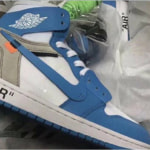 OFF-WHITE x NIKE AIR JORDAN 1 「UNIVERSITY BLUE」 の実物写真がリーク