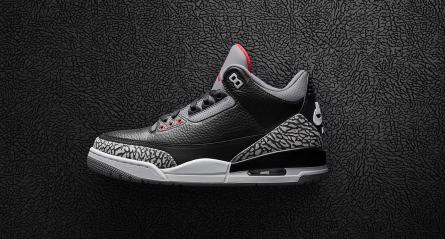 AIR JORDAN 3 BLACK CEMENT が17日にリリース