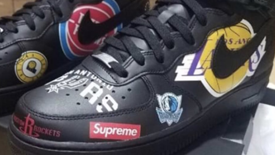 Supreme x NIKE AIR FORCE 1 のファーストルックがついに登場