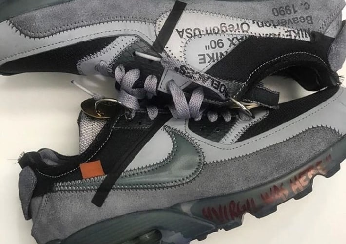 NIKE x OFF-WHITE AIRMAX 90 の実物画像がリーク