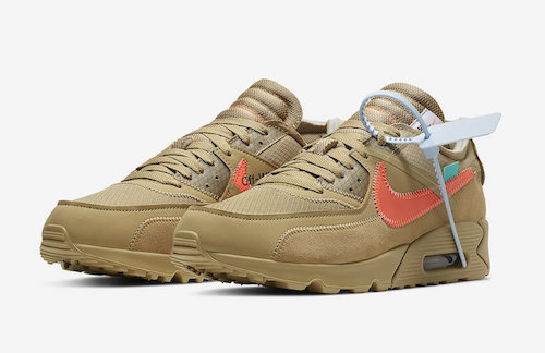 OFF-WHITE x NIKE THE TEN AIRMAX90 DESERT ORE がリリース決定